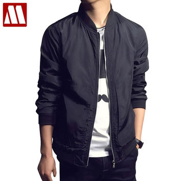 New Arrival Spring Men's Jackets Solid Fashion Coats Male Casual Slim Stand Collar Jacket Men Overcoat