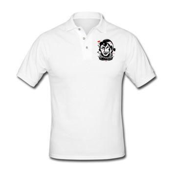 Playing Card Joker Men's Polo Shirt - Men's Custom Polo Shirts