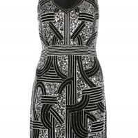 Black/Silver Sequin Geometric Dress | Curvy Plus Size Dresses | Desire