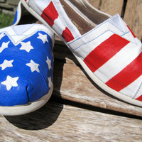 Stars and Stripes Hand Painted TOMS