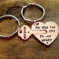 You Hold The Key To My Heart Forever Gift Set, Key to my Heart Gift Set, Anniversary Gift, Personalized Gift for Couple, His and Hers Set
