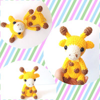 Amigurumi Giraffe Crochet Giraffe Stuffed Animal Toy Giraffe Kids Toy Kawaii Giraffe Plush Valentine's Day Gift Ideas