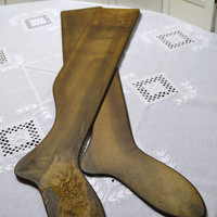 Antique Wooden Sock Form Stocking Stretcher Set of 2 Laundry Room Decor Textile Display Primitive Industrial PanchosPorch