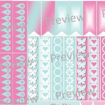 Planner Stickers May Erin Condren Monthly Spread Set Weekly Full Half Box Squares Peony Pink & Pool Blue Daily Planner ECLP Planner Stickers