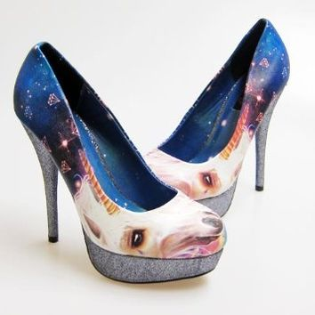 Iron Fist Unicornicopia Platform Heels Unicorn Shoes