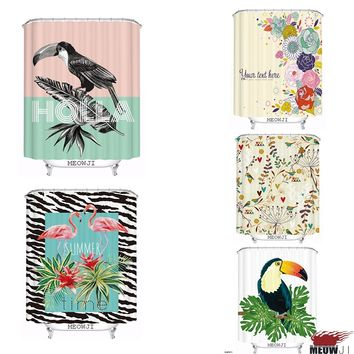 Toucan Flamingo Jungle Tour Birds Wonderland custom Shower Curtain Bathroom decor various sizes Free Shipping