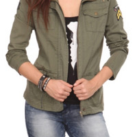Olive Military Hooded Jacket