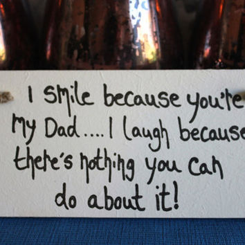 Dad gifts from daughter - Daddy sign - Personalised Daddy Plaque - Daddy Christmas Gift - Dad Gifts Plaque - new dad gift