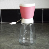 Vintage Nut Grinder,1950's/Androck,Pink with White Lid,Retro Kitchen Decor