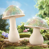 Mosaic Garden Mushrooms Lawn Ornaments