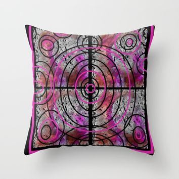 PINK MAZE Throw Pillow by violajohnsonriley