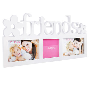 Set 3 in 1 FRIEND Photo Collage Frame White