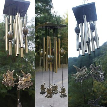 Amazing Antique Copper Wind Chimes Home Decoration Garden Living Yard Hanging Windchimes Ornaments Birthday Gifts