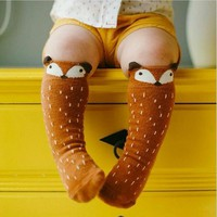Cute Cartoon Fox Socks