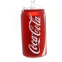 Licensed Coca-Cola Can Ornament Glass Ornament