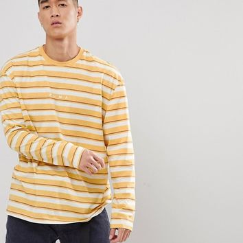 Puma Long Sleeve Striped Top In Yellow Exclusive To ASOS at asos.com