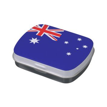 Patriotic candy tins with Flag of Australia