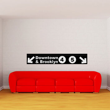 Brooklyn New York City Subway Sign Vinyl Wall Words Decal Sticker Graphic