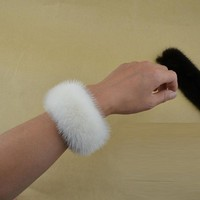 New arrival natural  mink fur headband  rope mink fur ring fur bracelet fur cuffs