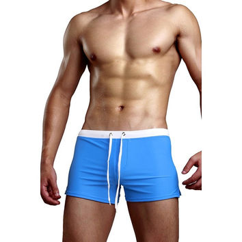 Zipper Nylon Waterproof Swimming Shorts