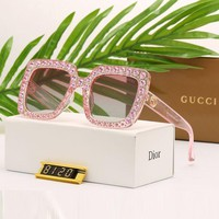 Gucci Fashion Women Cute Diamond Shades Eyeglasses Glasses Sunglasses I/A