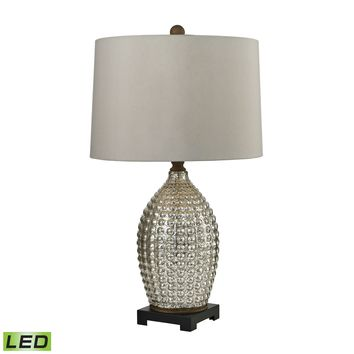D2601-LED Trump Home Reverse Hammered Glass LED Table Lamp in Antique Mercury - Free Shipping!