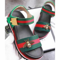 GUCCILadies bees sandals beach shoes-7