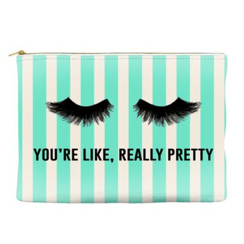 You're Like Really Pretty - Striped Pouch (more colors)