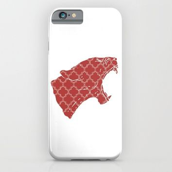 PANTHER SILHOUETTE HEAD WITH PATTERN iPhone & iPod Case by deificus Art