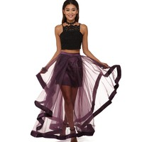 Gemma Purple Two Piece Dress