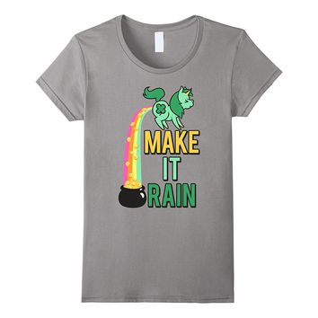 St. Patrick's Day Make It Rain Graphic T-Shirt