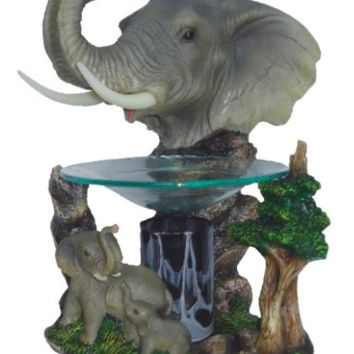 Elephant Table Fragrance Aroma Lamp Oil Diffuser Wax Tart Candle Warmer Burner Home Decor