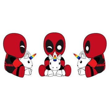 Deadpool with Unicorn Phunny Plush