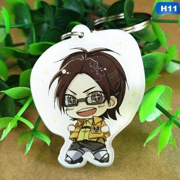 Fashion Styles Attack On Titan  Keychain Rivaille Eren Keyrings Fashion Jewelry Key Chains Custom Made Anime Key Ring