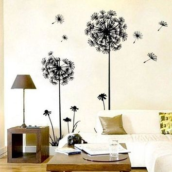 MDIGYN5 New Creative Dandelion Wall Art Decal Sticker Removable Mural PVC Home Decor Gift