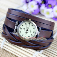 Super soft Men and women bracelet watches, leather bracelet wrist watches, personalized watch style restoring ancient ways, friendship gift