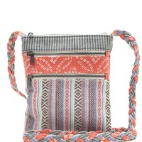 LA Hearts Multi Print Passport Crossbody Bag - Womens Handbags - Bl