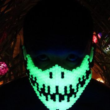 Glow in the Dark Skeleton Kandi Mask