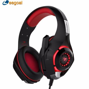 Gaming Headset Wired Earphone Gamer Headphone Ear phone casque Stereo Earphone PC Gaming Headphone with microphone Led For PS4