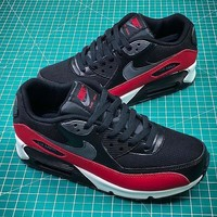 Nike Air Max 90 Black Red Sport Running Shoes Sale