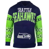 "Seattle Seahawks Official NFL ""Big Logo"" Hooded Sweatshirt by Klew"