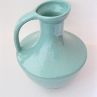 Seafoam Green Pfaltzgraff Pottery Pitcher. Mid Century Modern Collectible Pottery, Early Pfaltzgraff, Farmhouse Decor - FL