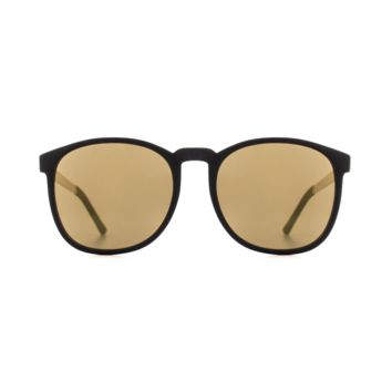 Komono - Urkel Metal Series Black Gold Sunglasses / Polycarbonate Light Gold Mirror Lenses