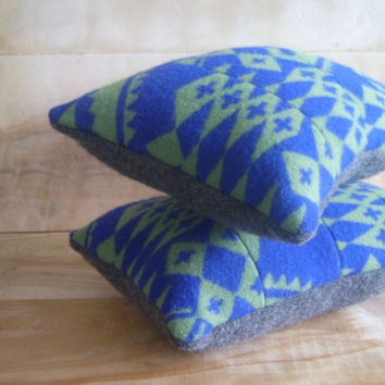 Pendleton Wool Pillow Pair 10x15 by RobinCottage on Etsy