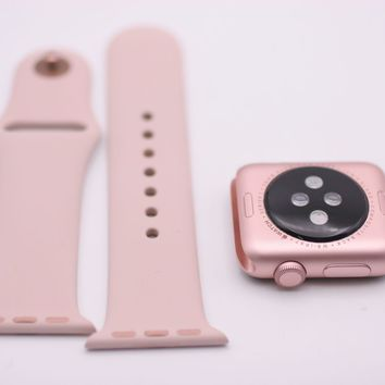 Apple Watch Series1 38mm Rose Gold Aluminum Case with Pink Sand Sport Band