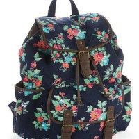 Floral Graphic Buckle Backpack