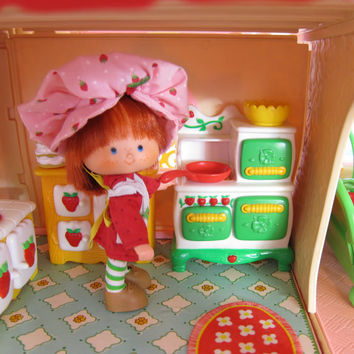 Kitchen Stove Oven for Strawberry Shortcake Dollhouse Vintage Berry Happy Home Furniture