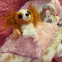 "15 inch baby doll lovey blankie blanket ""Pampered Pooch"" security blanket dog puppy Q12"