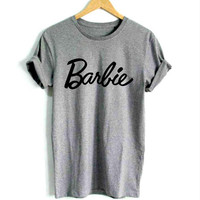 Barbie Women's Casual Gray T-Shirt