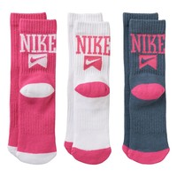 Nike 3-pk. Flag Crew Socks - Girls, Size: